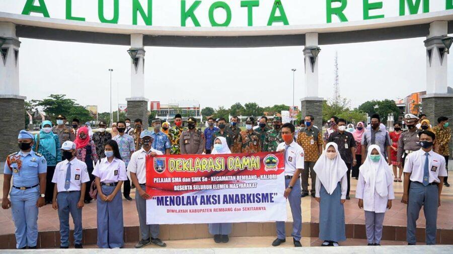Deklarasi Damai Perwakilan SMA-SMK Kecamatan Kaliori dan Rembang beserta Elemen Masyarakat Menolak Aksi Anarkis
