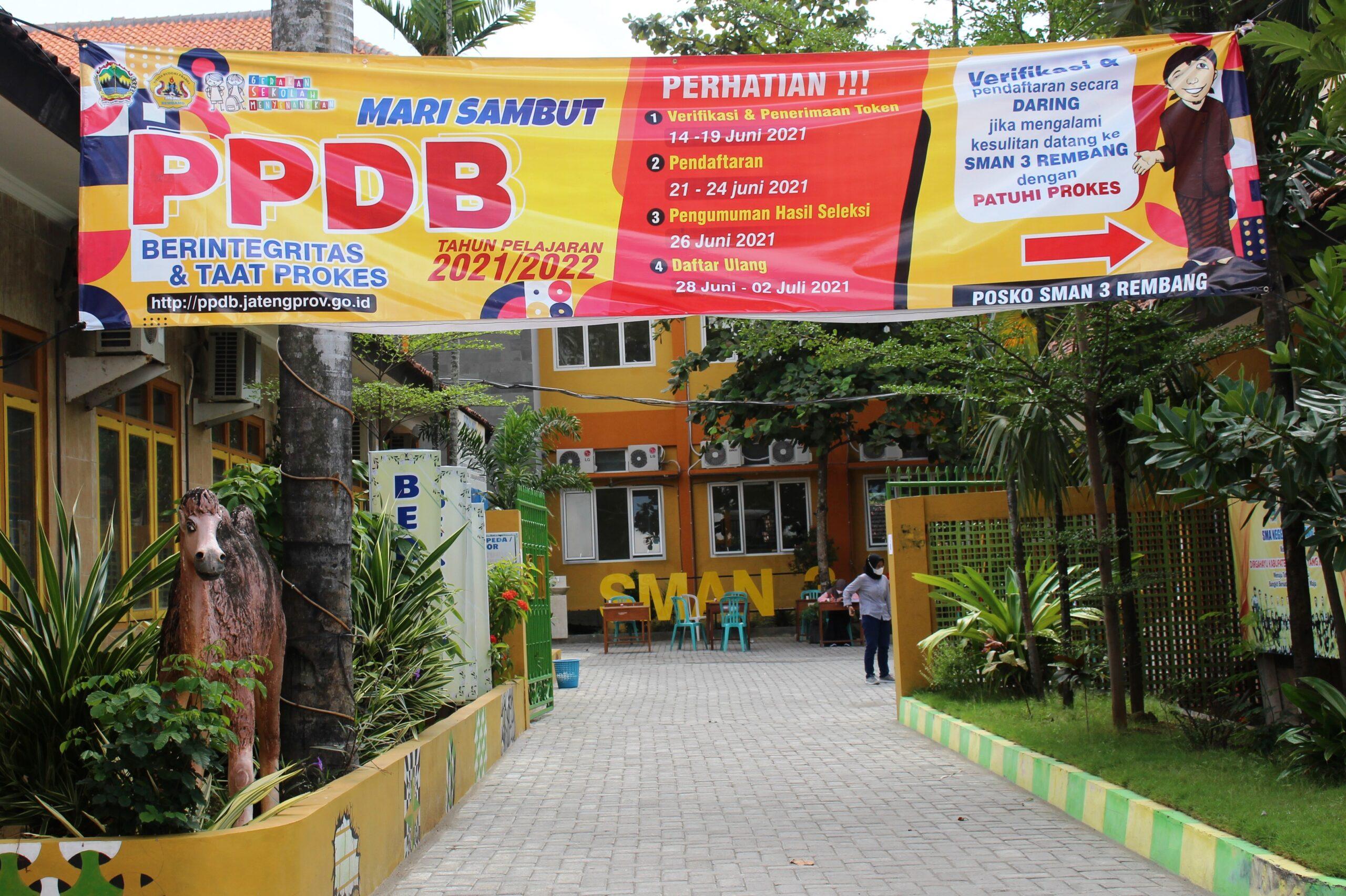 PPDB SMAN 3 Rembang Kelas Khusus Olahraga (KKO) dan Kelas Reguler Tahun Pelajaran 2021/2022 Berjalan Dengan Lancar